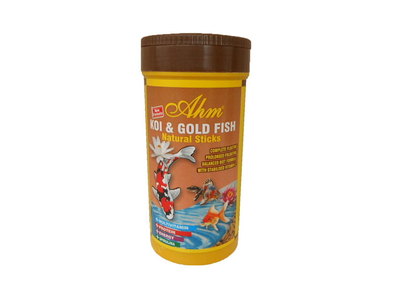 AHM KOI & GOLD FISH NATURAL STICKS 250 ML KUTU fotograf