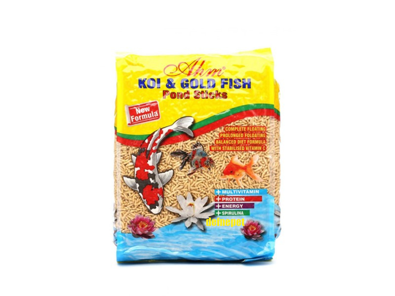 AHM KOİ GOLD FİSH NATURAL POND STİCKS 1 KG POŞET fotograf