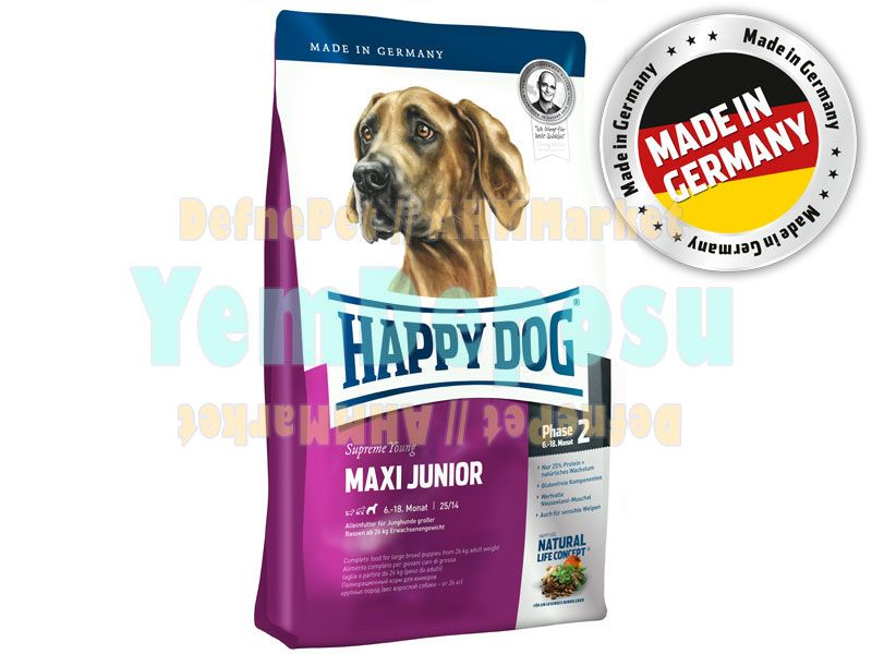 HAPPY DOG MAXİ JUNİOR KÖPEK MAMASI 15 KG EKONOMİK fotograf