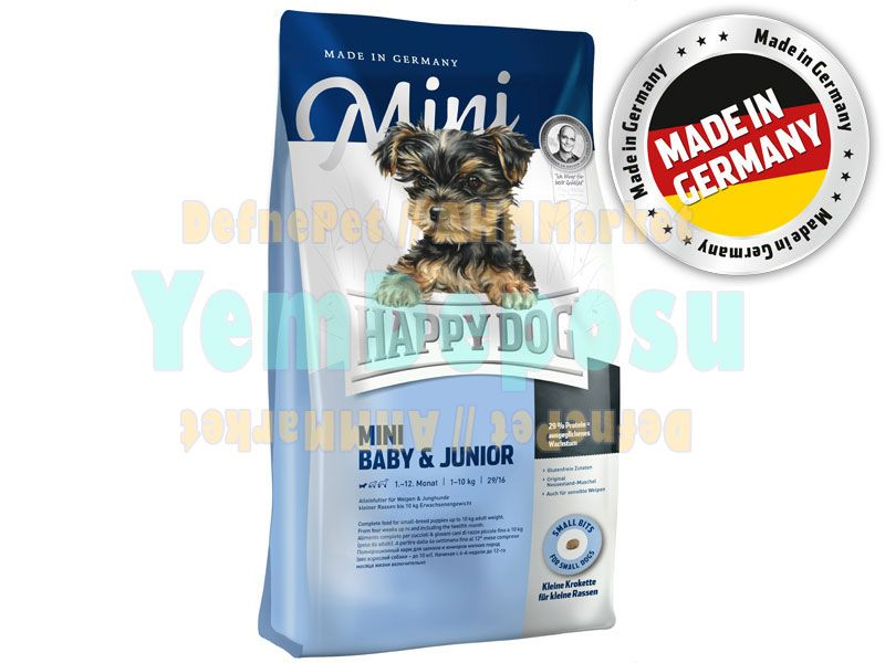 HAPPY DOG MİNİ BABY JUNİOR KÖPEK MAMASI 4 KG fotograf
