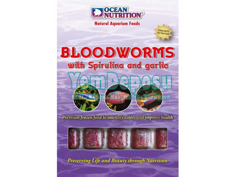 BLOODWORMS WITH SPIRULINA GARLIC 100 GR fotograf